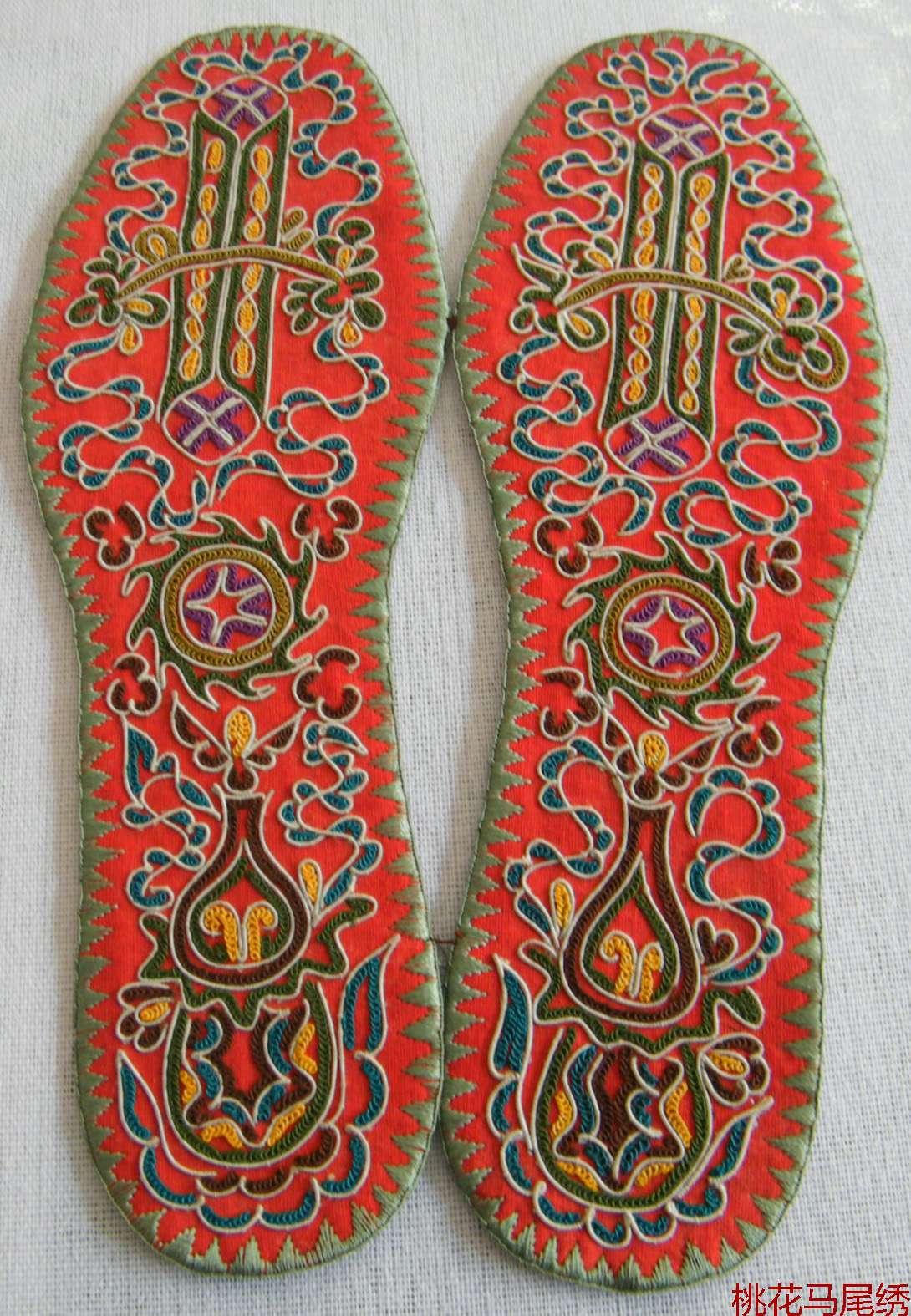 刺绣鞋垫的针法步骤